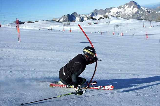 ski-camp-les-deux-alpes-estate-slalom